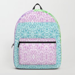 Pastel Panel Pink Lavender Green Blue Backpack