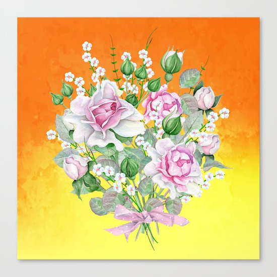 Flowers bouquet #22 Canvas Print