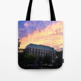 Hughes Hall at Fordham University - Rose Hill Tote Bag