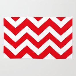 KU crimson - red color - Zigzag Chevron Pattern Rug
