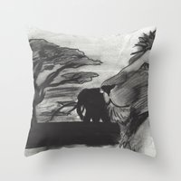safari Throw Pillows featuring Safari by SaphronSunshine