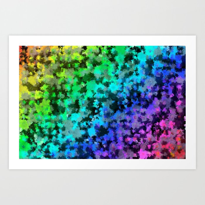 Starrider -- Abstract cubist color expansion Art Print