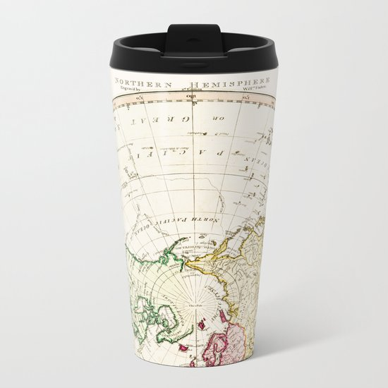 Northern Hemisphere- reproduction of William Faden's 1790 engraving Metal Travel Mug
