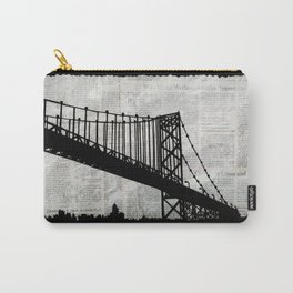 News Feed , Newspaper Bridge Collage Carry-All Pouch