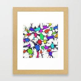 Candy scatter Framed Art Print