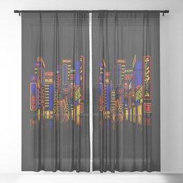 Tokyo Adventure Sheer Curtain
