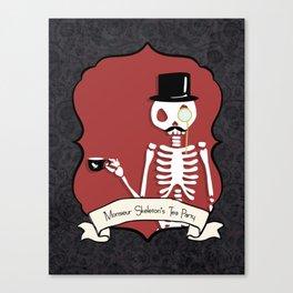 Monsieur Skeleton Canvas Print