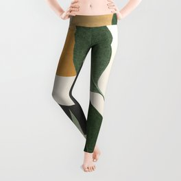 Abstract Art Tropical Leaves 8 Leggings