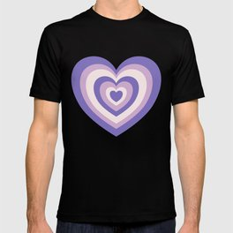 Retro Hearts - Pastel Purple T-shirt