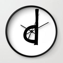 D Monogram (Hand 2) Wall Clock