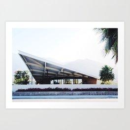 Midcentury modern building Palm Springs Art Print