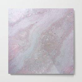 Elegant Pink Polished Marble Metal Print