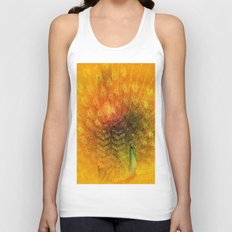 Peacock in Gold Unisex Tank Top