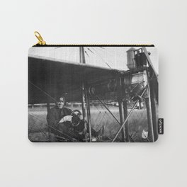 Charles Murphy in Police Monoplane - 1914 Carry-All Pouch