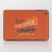sport iPad Cases featuring Vintage British Sport Car by Thyme