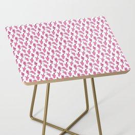 piggy pink swipers on www.white Side Table