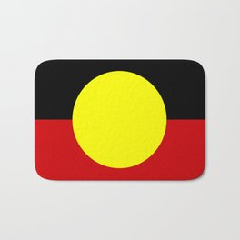 Flag of the australian Aboriginal Bath Mat