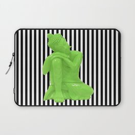 My  inner Green Buddha | Namaste Pop Art Buddha Laptop Sleeve