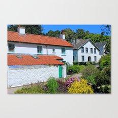 Caldey Island Village.Wales. Canvas Print