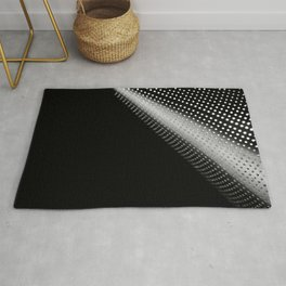 Abstract black and white fine art print / Minimal colander dots Rug