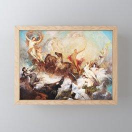 Hans Makart - The victory of light over darkness - Digital Remastered Edition Framed Mini Art Print