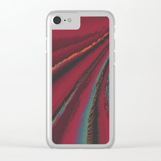 Cozy Sweater - glitch- Clear iPhone Case