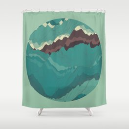 TOPOGRAPHY 004 Shower Curtain