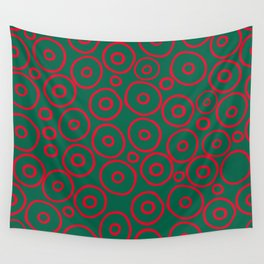 circles red and green Wall Tapestry