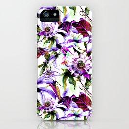 Violet botanical garden iPhone Case