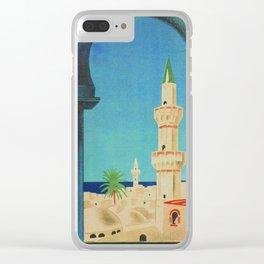 Tripoli Libya - Vintage Travel Poster Clear iPhone Case