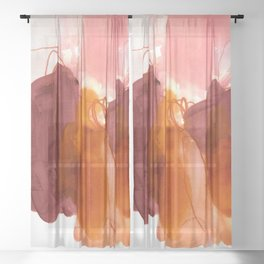 abstract painting X Sheer Curtain