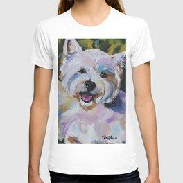 Westie Impressionism Pet Portrait Larsen 1 T-shirt