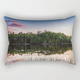 Sunset at Gunflint Lake in the Boundary Waters Rectangular Pillow