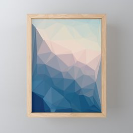 BE WITH ME - TRIANGLES ABSTRACT #PINK #BLUE #1 Framed Mini Art Print