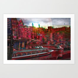 By The Canal Art Print