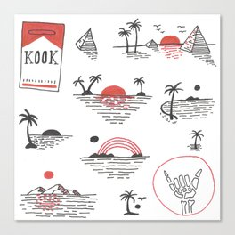 Sunset Kook Canvas Print