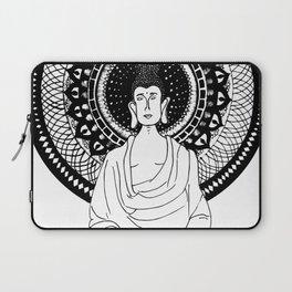 The Monk- White Laptop Sleeve