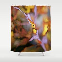 On a Leaf Edge Shower Curtain
