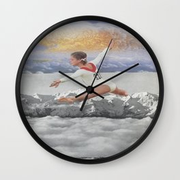 Clouds Leap Wall Clock