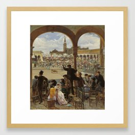 Jose Jimenez Aranda, A Pass in the Bullring 1870 Framed Art Print