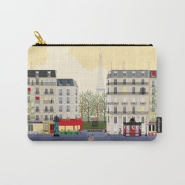 Paris Street Scene Art Print - Dawn Carry-All Pouch