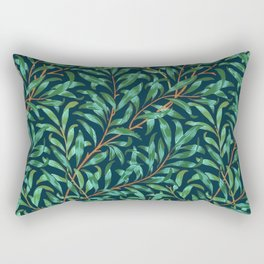 Midnight leaves Rectangular Pillow