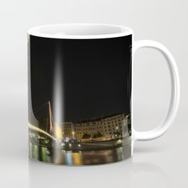 Lyon Bridge Statue by night Coffee Mug