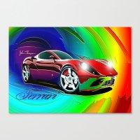 ferrari Canvas Prints featuring Ferrari by JT Digital Art