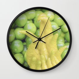 """Buddha's Hand"" Food Art by Murray Bolesta Wall Clock"