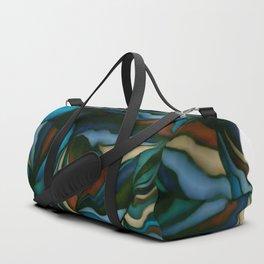 blue smudge Duffle Bag