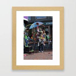 Harvard Square Busker Framed Art Print