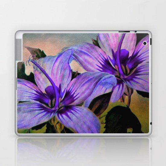 Vintage Painted Lavender Lily Laptop & iPad Skin