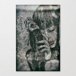 Miss With A Cigarette Wet Vintage 9 Canvas Print
