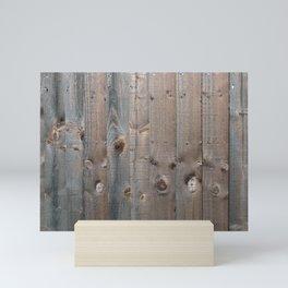Brown Wooden Fence Mini Art Print